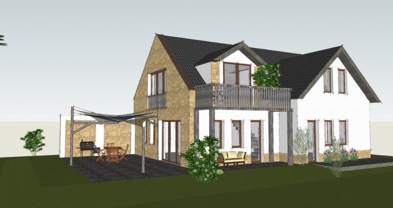 latvanyterv 3D ház